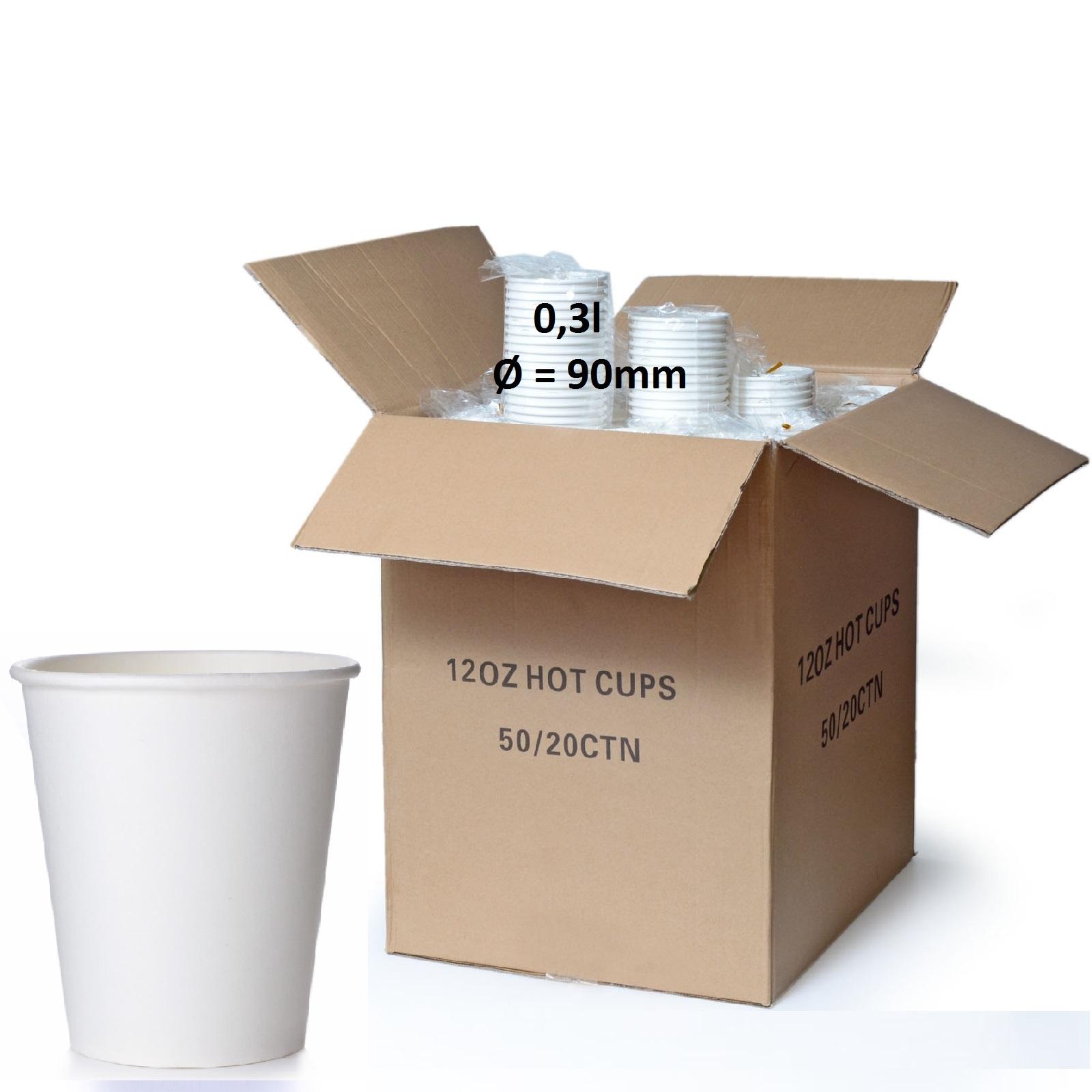Coffee to go Becher 0,3l Neutral 50 Pappbecher