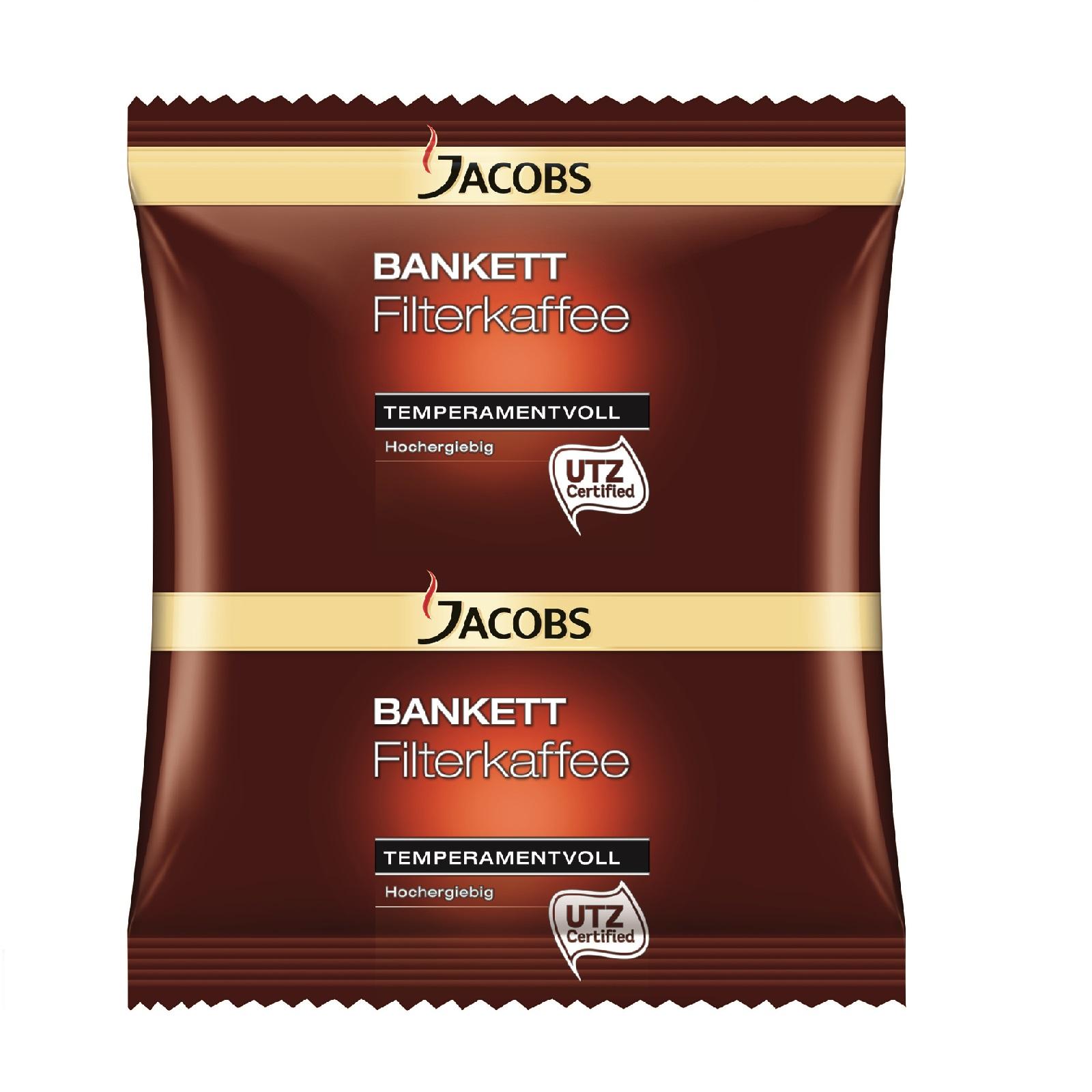 Jacobs Bankett Temperamentvoll 80 x 60g Kaffee gemahlen
