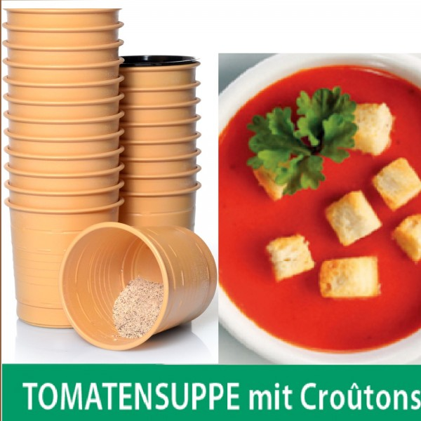 incup Tomatensuppe mit croutons