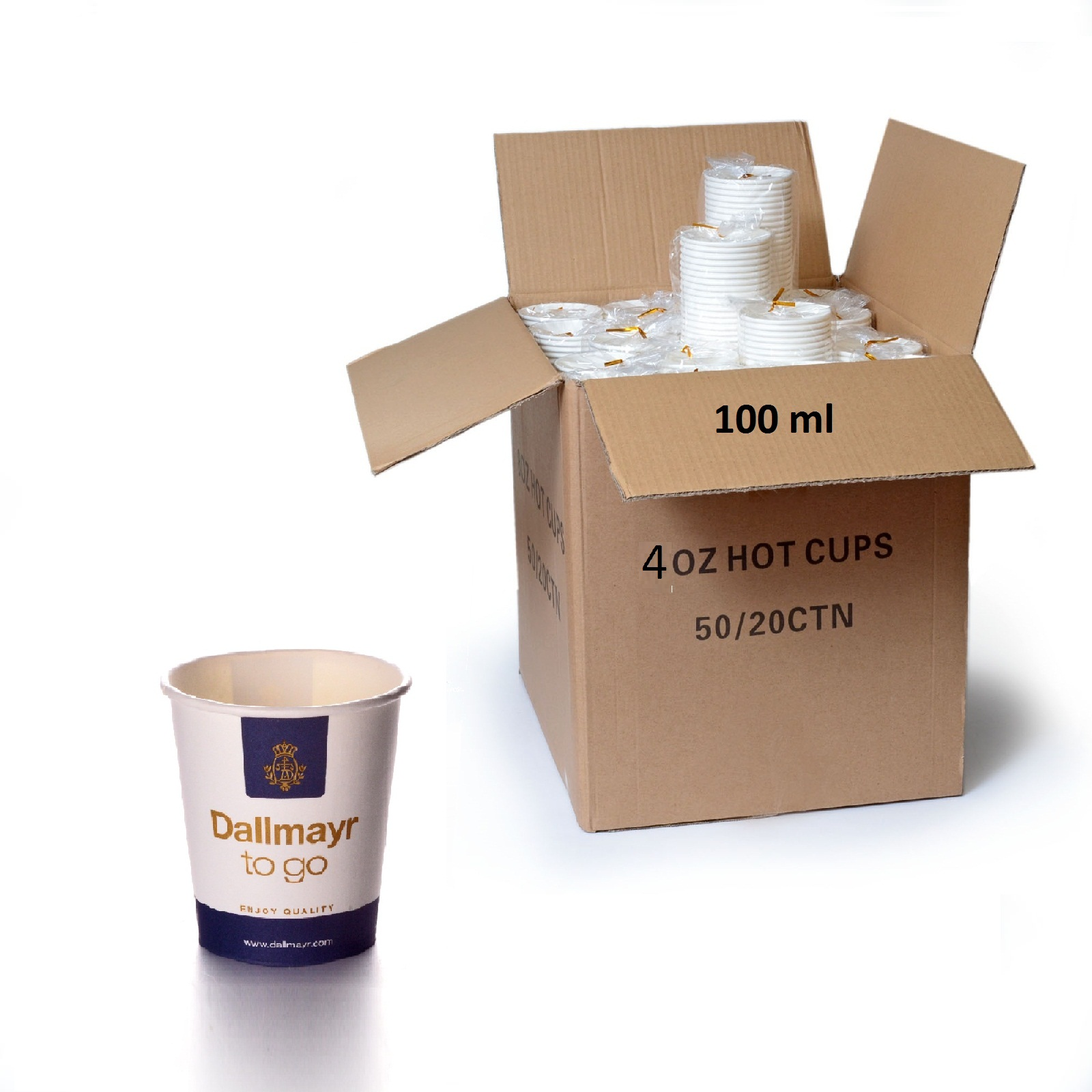 Dallmayr Coffee to go Becher 1000 Espressobecher 0,1l