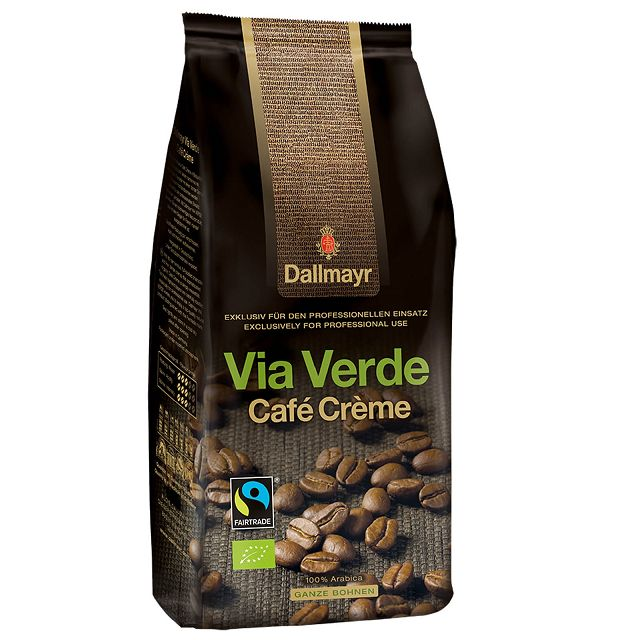 Dallmayr Via Verde Café Créme Bio Fairtrade 6 x 1kg ganze Bohne