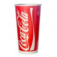 Coca Cola Becher Pappbecher 0,75l / 0,8l Kaltgetränke 50 Stk
