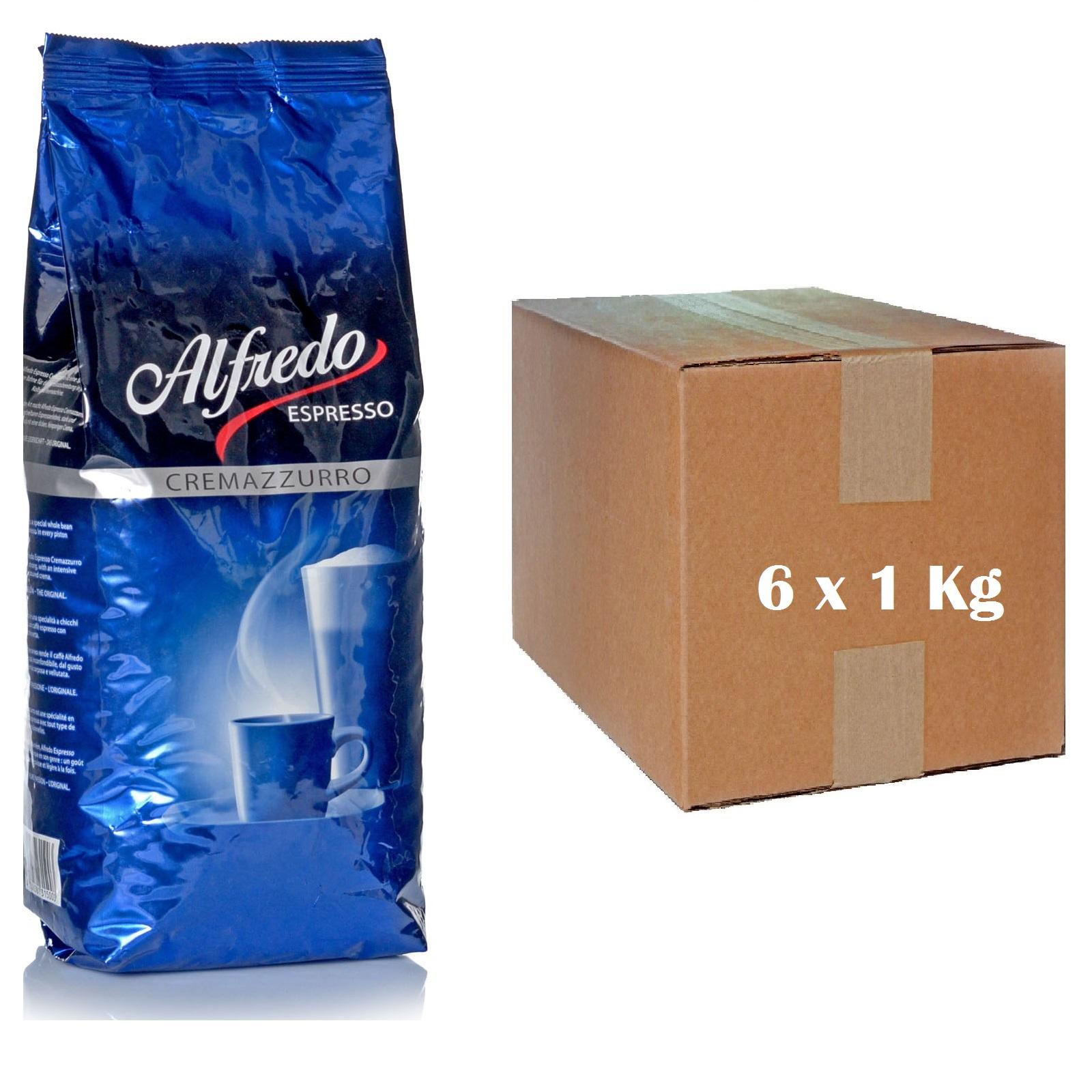 Alfredo Espresso Cremazzurro 6 x 1 kg ganze Kaffeebohnen