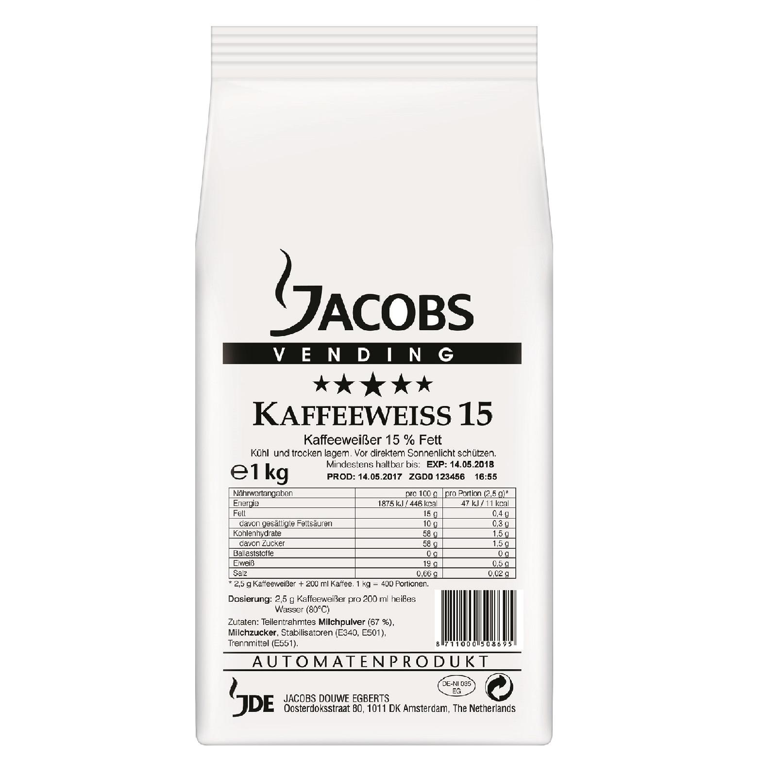 Jacobs Kaffeeweiss 15 Kaffeeweisser 1.000g
