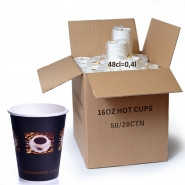 Coffee Bean Becher 48cl Pappbecher 0,4l 1000 Stk.