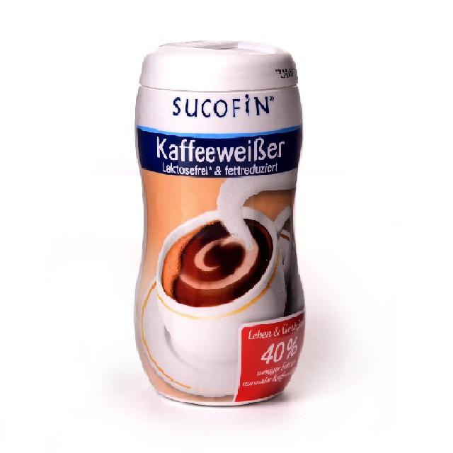 Sucofin Kaffeeweißer laktosefrei, fettfreduziertes Milchpulver - 10 Dosen 200g