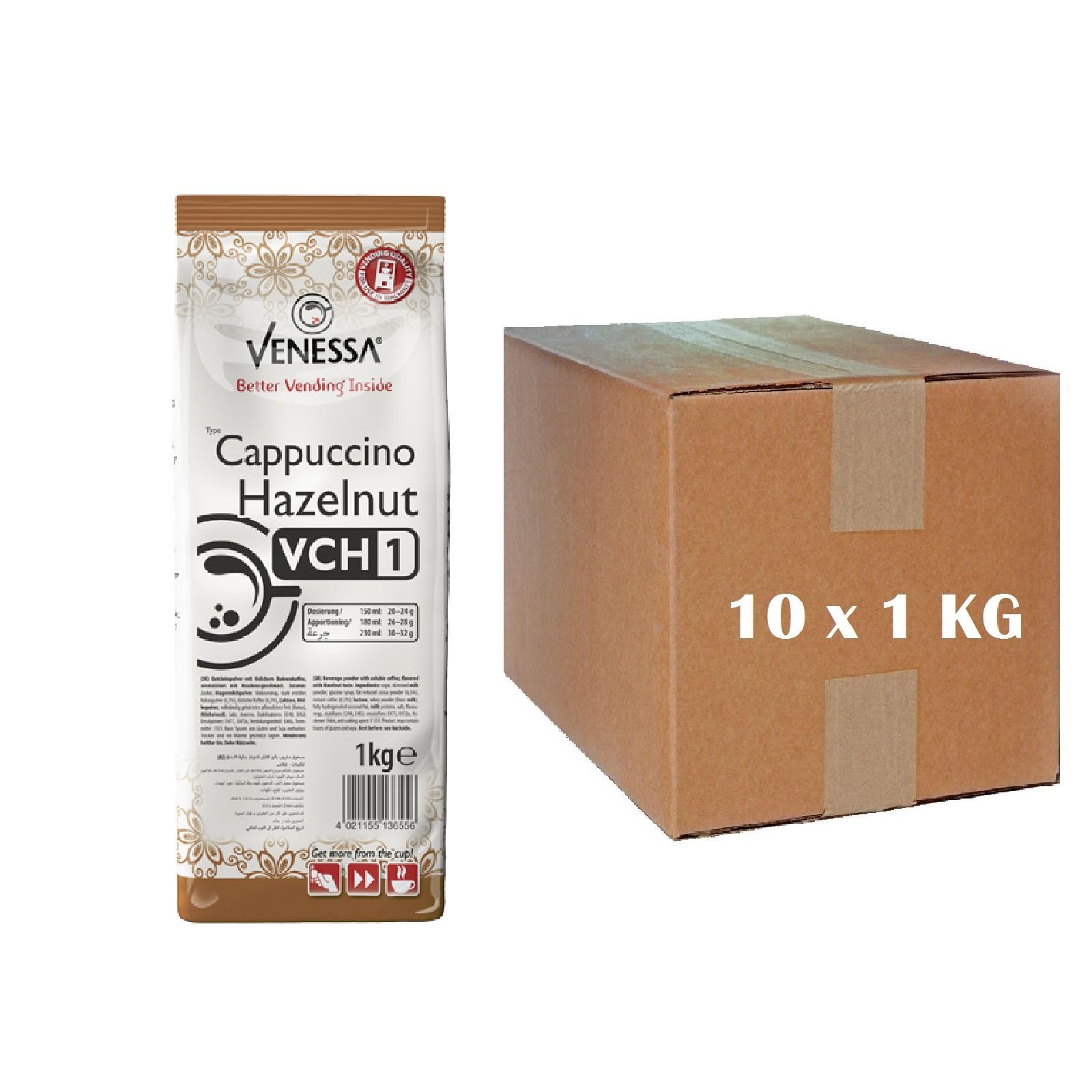 Venessa Cappuccino Hazelnut VCH1 für Automaten 10 x 1kg