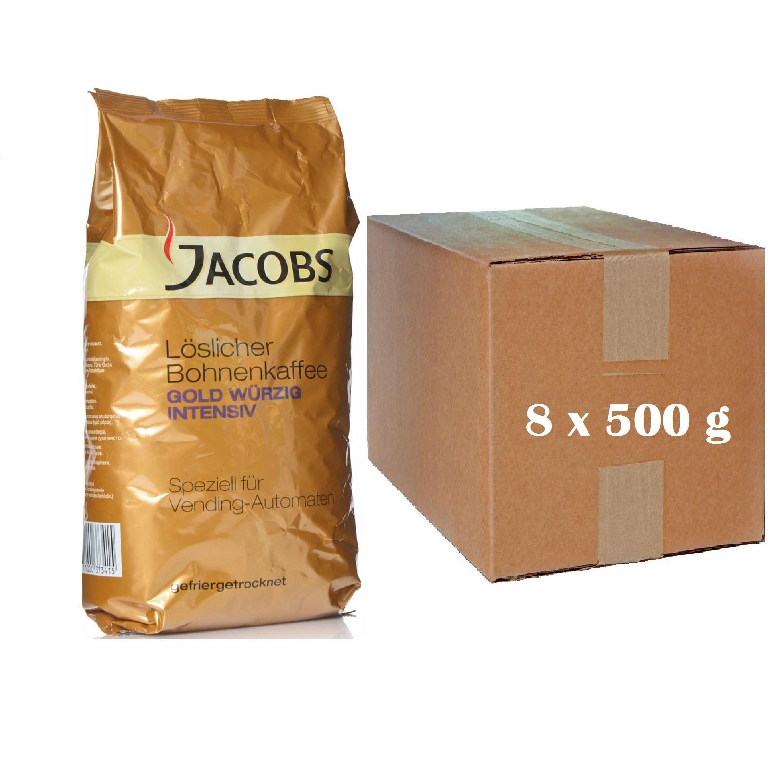 Jacobs Würzig Intensiv Instant 8 x 500g Löslicher Bohnenkaffee