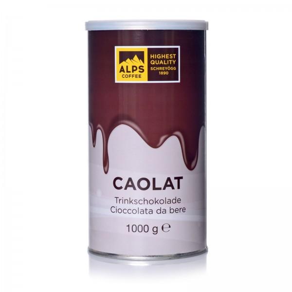 Schreyögg Caolat - dunkle Trinkschokolade, 1000g Dose