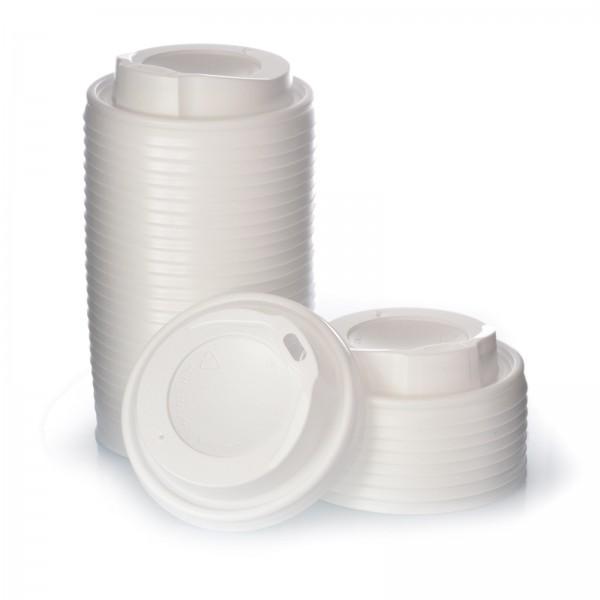 1000 Deckel für Coffee to go Hartpapierbecher 0,2l weiß Ø80mm