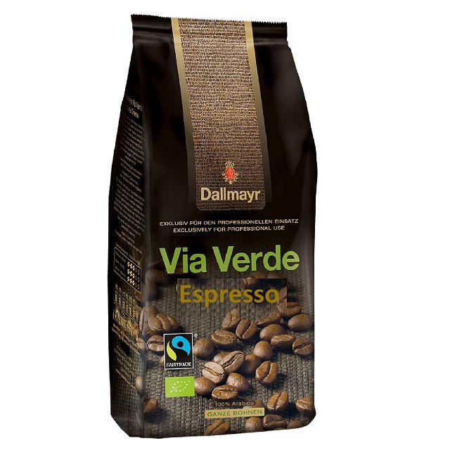 Dallmayr Via Verde Espresso Bio Fairtrade 6 x 1kg Kaffee ganze Bohne