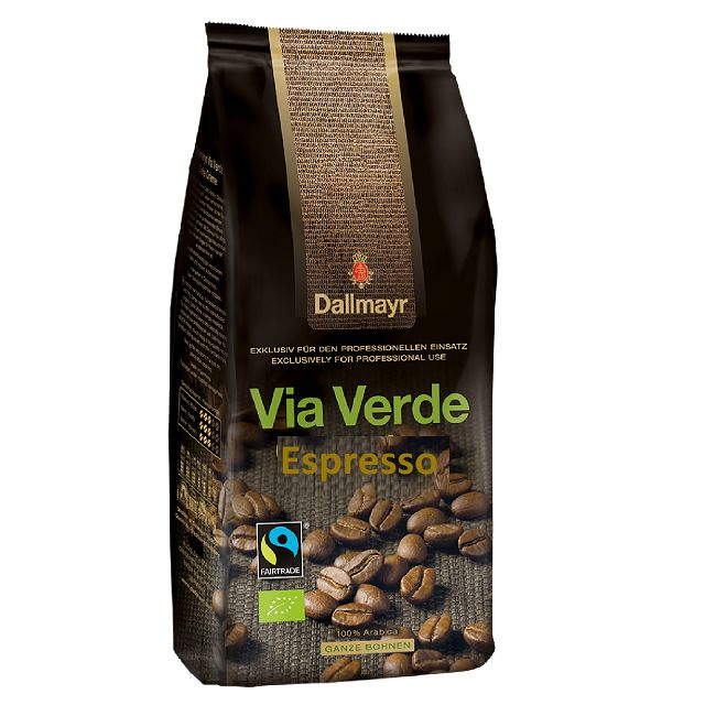 Dallmayr Via Verde Bio Espresso 6 x 1kg ganze Bohne