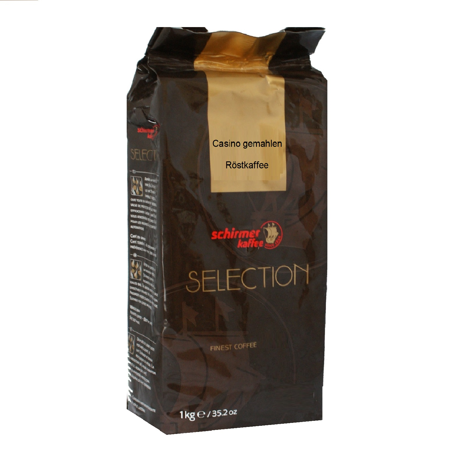 Schirmer Selection Casino Kaffee gemahlen 1Kg