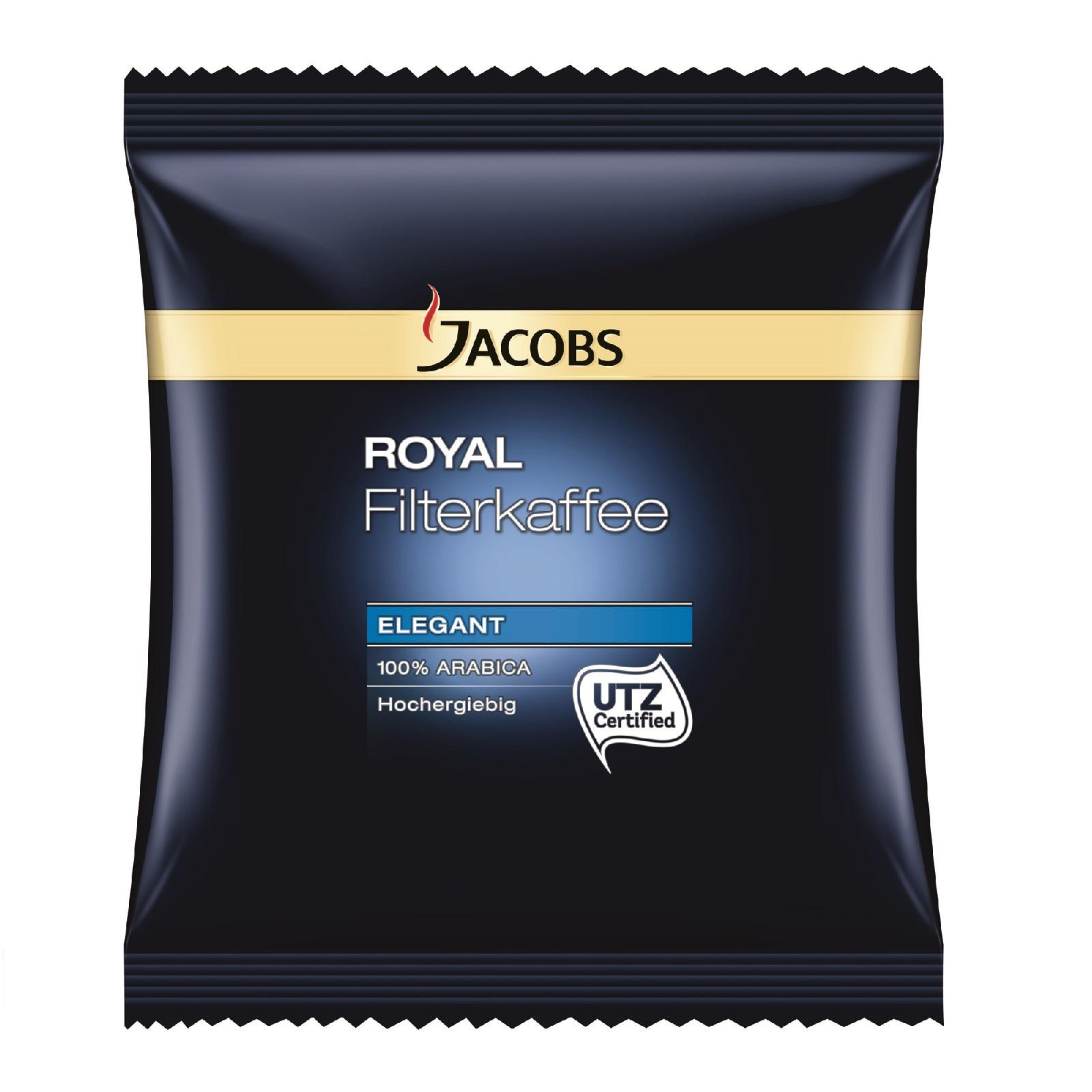 Jacobs Royal Elegant 100% Arabica 72 x 70g Kaffee gemahlen