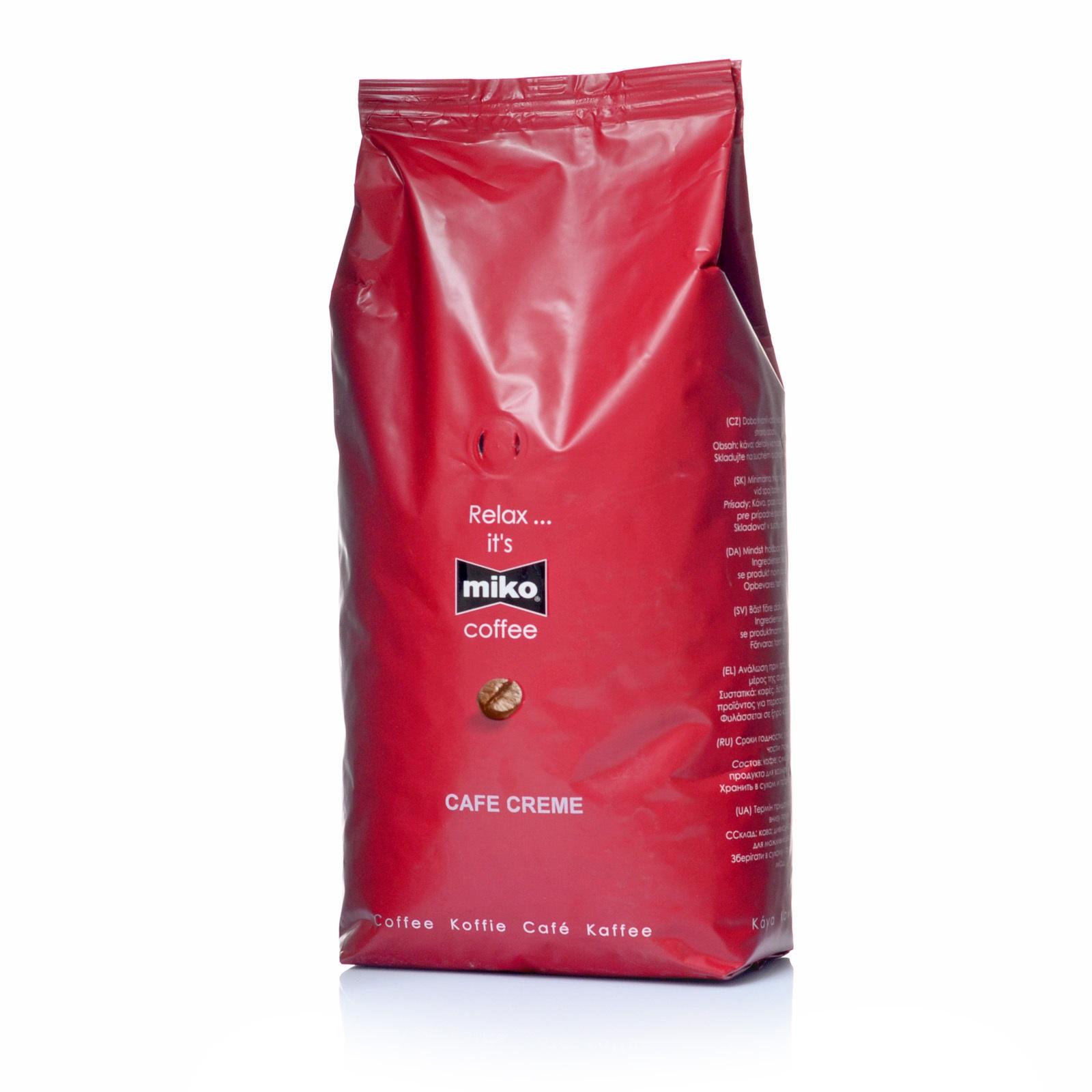 Miko Cafe Creme Schümli 1Kg Kaffeebohnen ganze Bohne