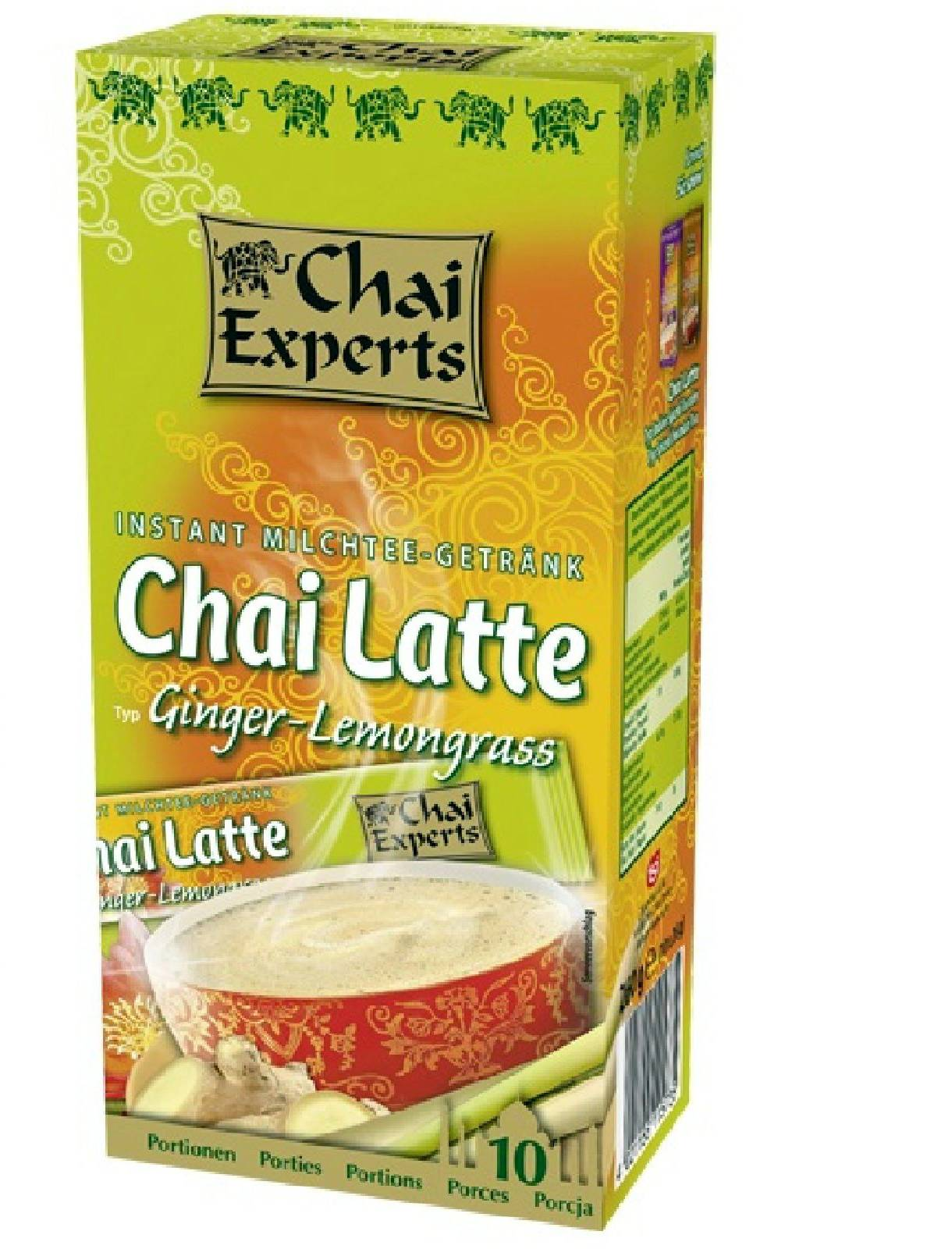 Chai Experts Ginger-Lemongrass 10 Instant Milchtee Sticks á 26g