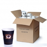 Coffee Bean Becher 36cl Pappbecher 0,3l 1000 Stk.