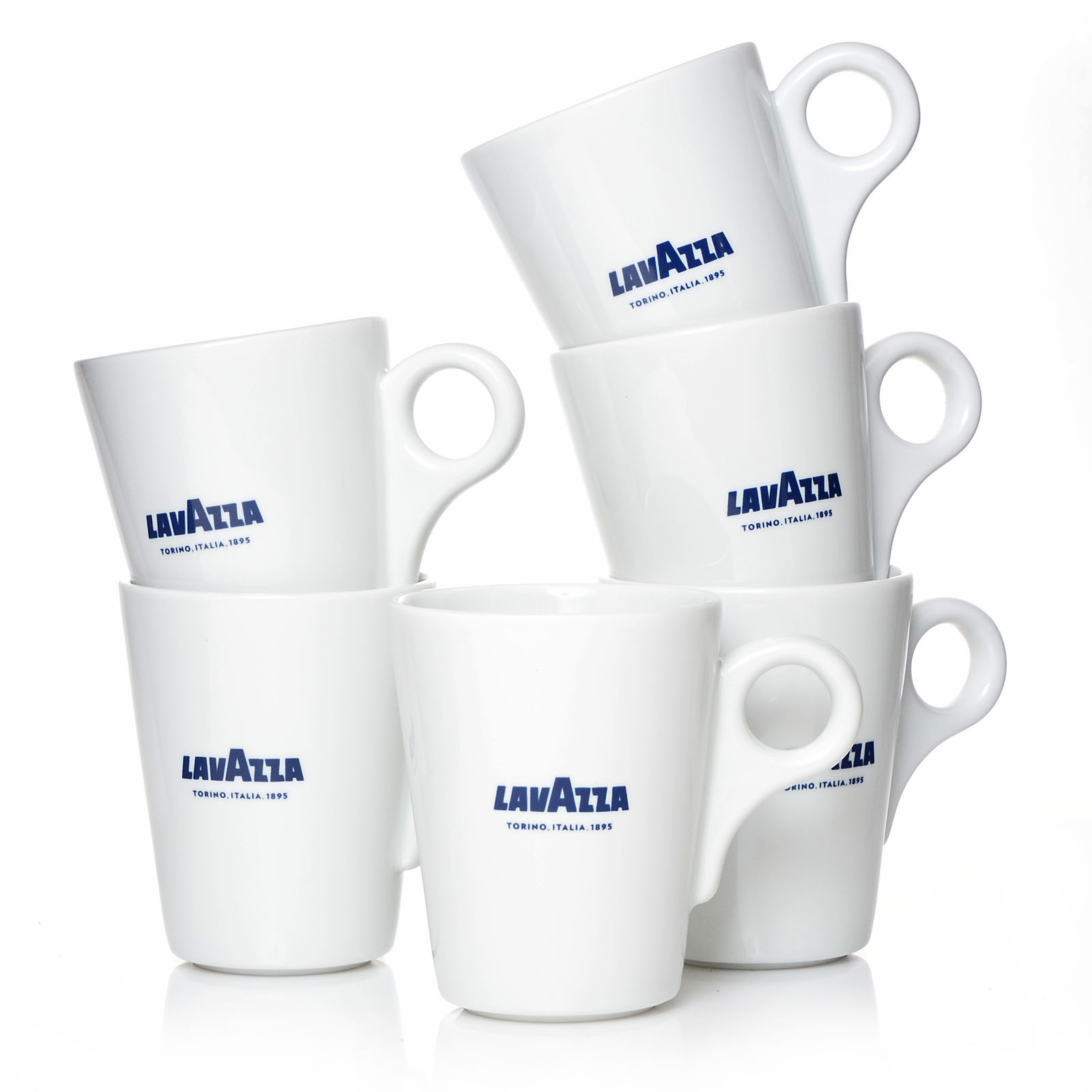 lavazza mug kaffeebecher 6 x 320 ml kaffeegeschirr mugs blu collection. Black Bedroom Furniture Sets. Home Design Ideas