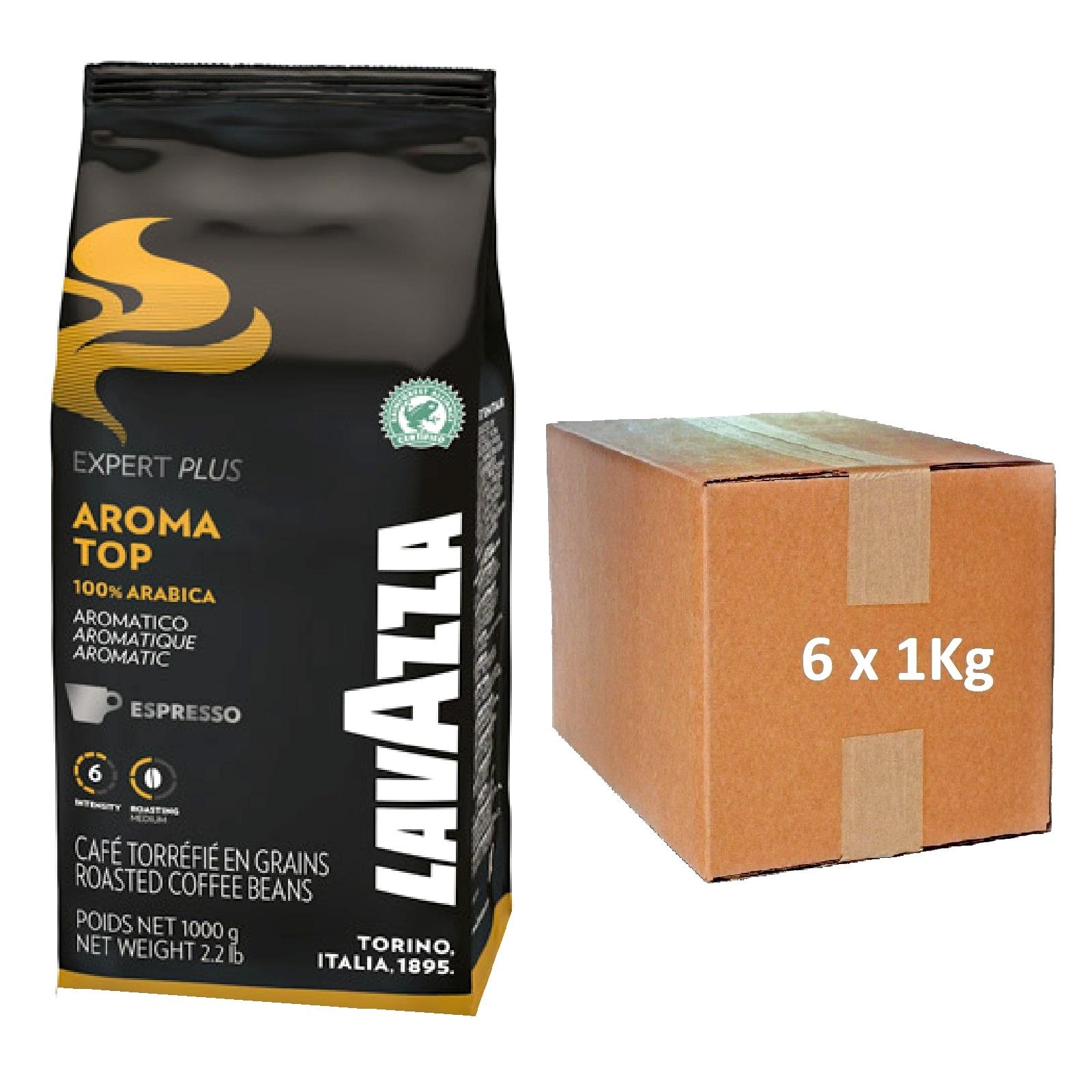 Lavazza Vending Aroma Top 100 % Arabica ganze Bohne 6 x 1Kg