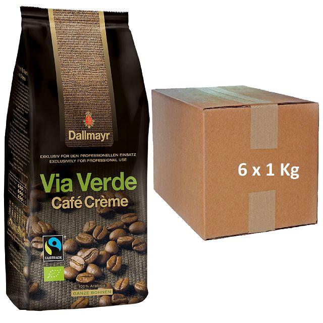 Dallmayr Via Verde Bio Café Créme 6 x 1kg ganze Bohne