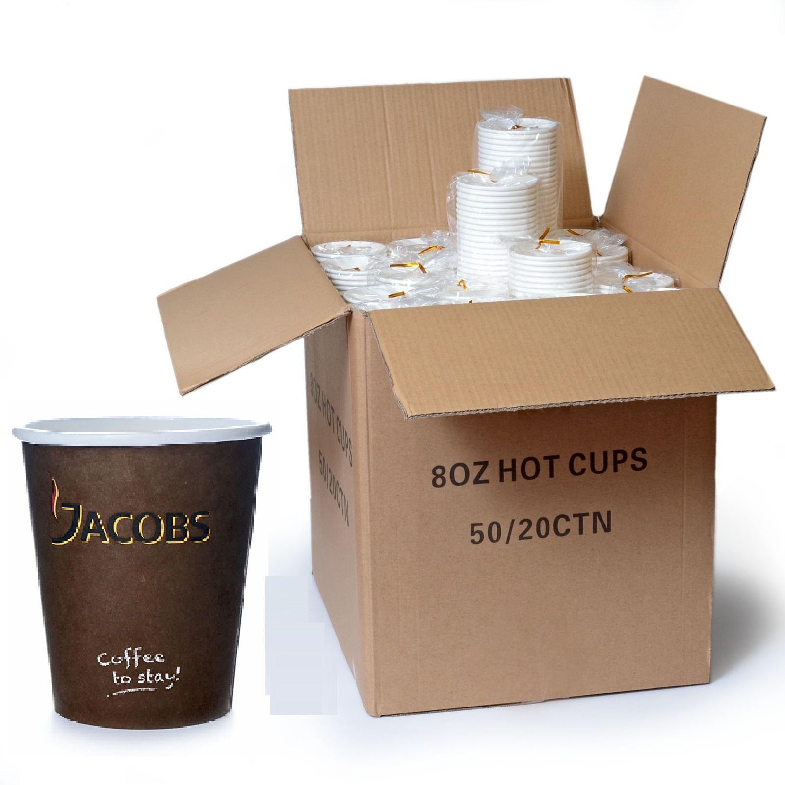 Coffee to go Papp-Becher 0,2l Jacobs 1000Stk 200ml / 8oz