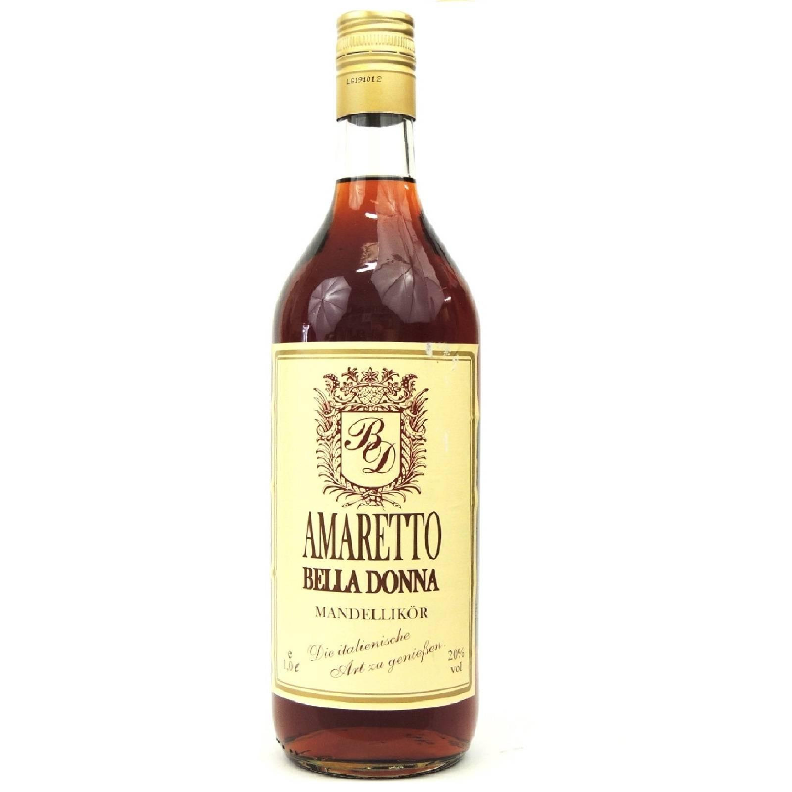 Amaretto Bella Donna Mandellikör 20% 1Ltr