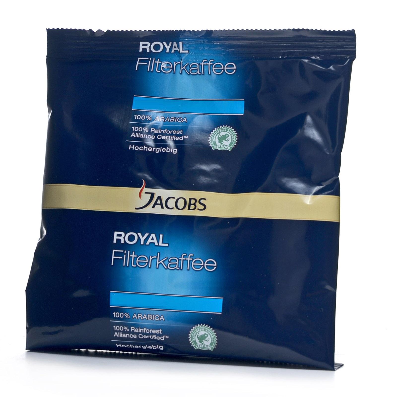 Jacobs Royal Elegant Filterkaffee Servicepaket + 50 Korbfilter 42 x 70g