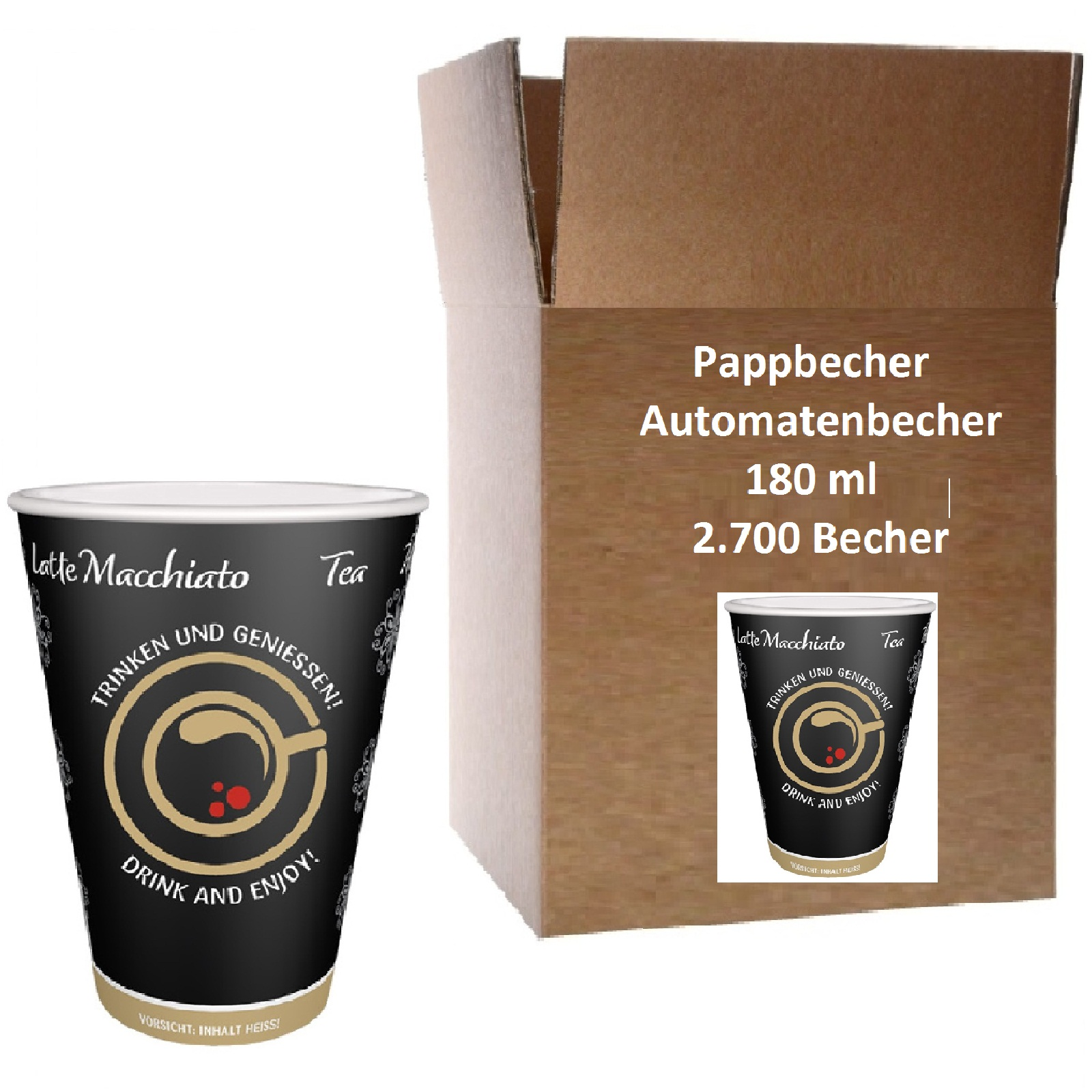 Automatenbecher Papierbecher 0,18l Intercups 2700 Stk.
