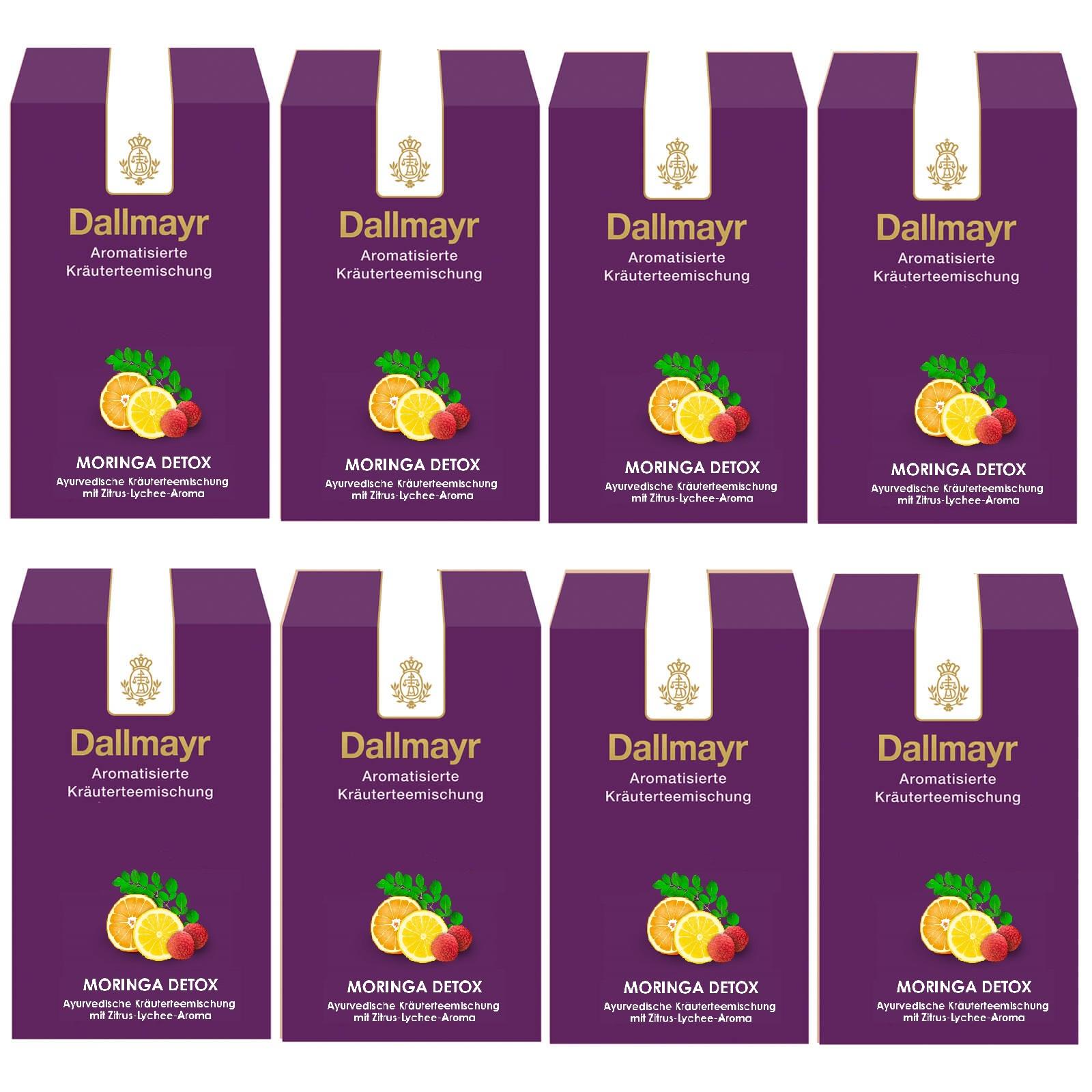 Dallmayr Moringa Detox Ayurvedischer Tee 8 x 100g