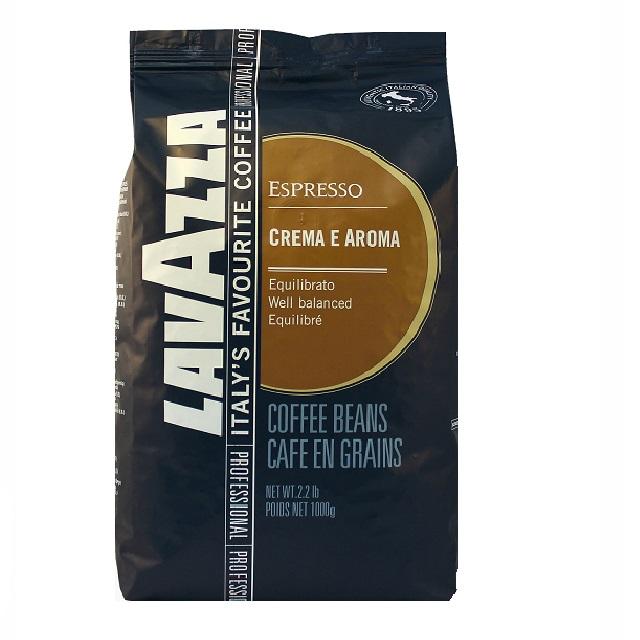 Lavazza Crema E Aroma Espresso Blue line Kaffeebohnen 6 x 1Kg ganze Bohne
