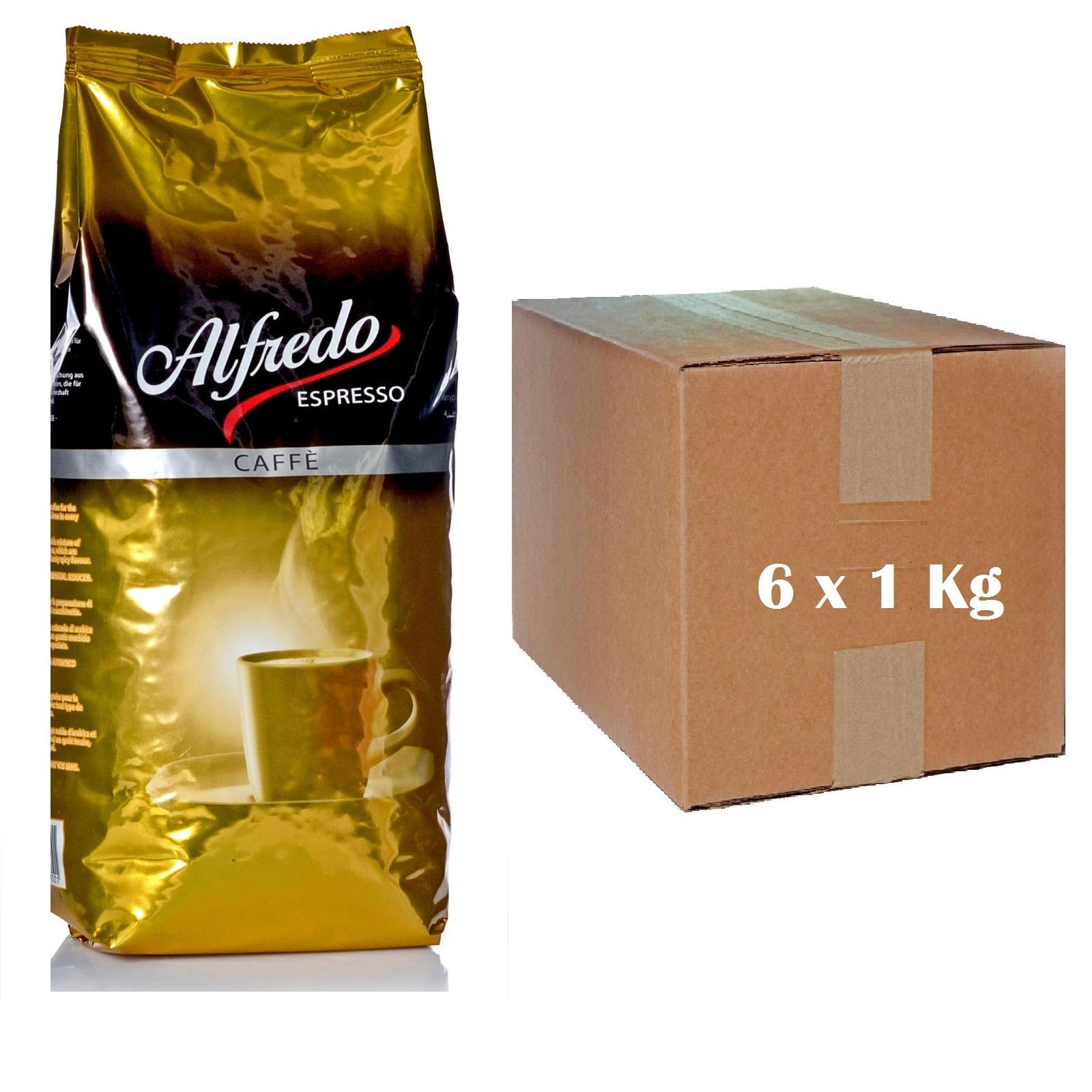 Alfredo Espresso Café Créme 6 x 1 Kg ganze Bohne