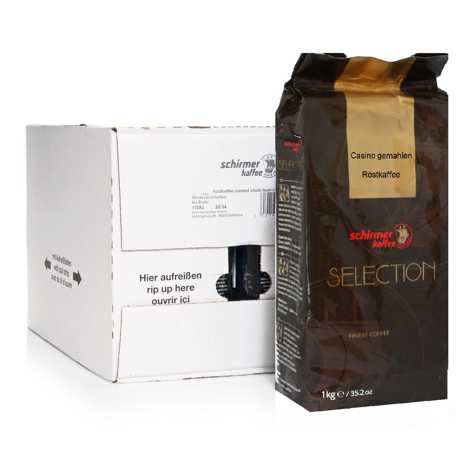 Schirmer Selection Casino Kaffee gemahlen 5 x 1kg