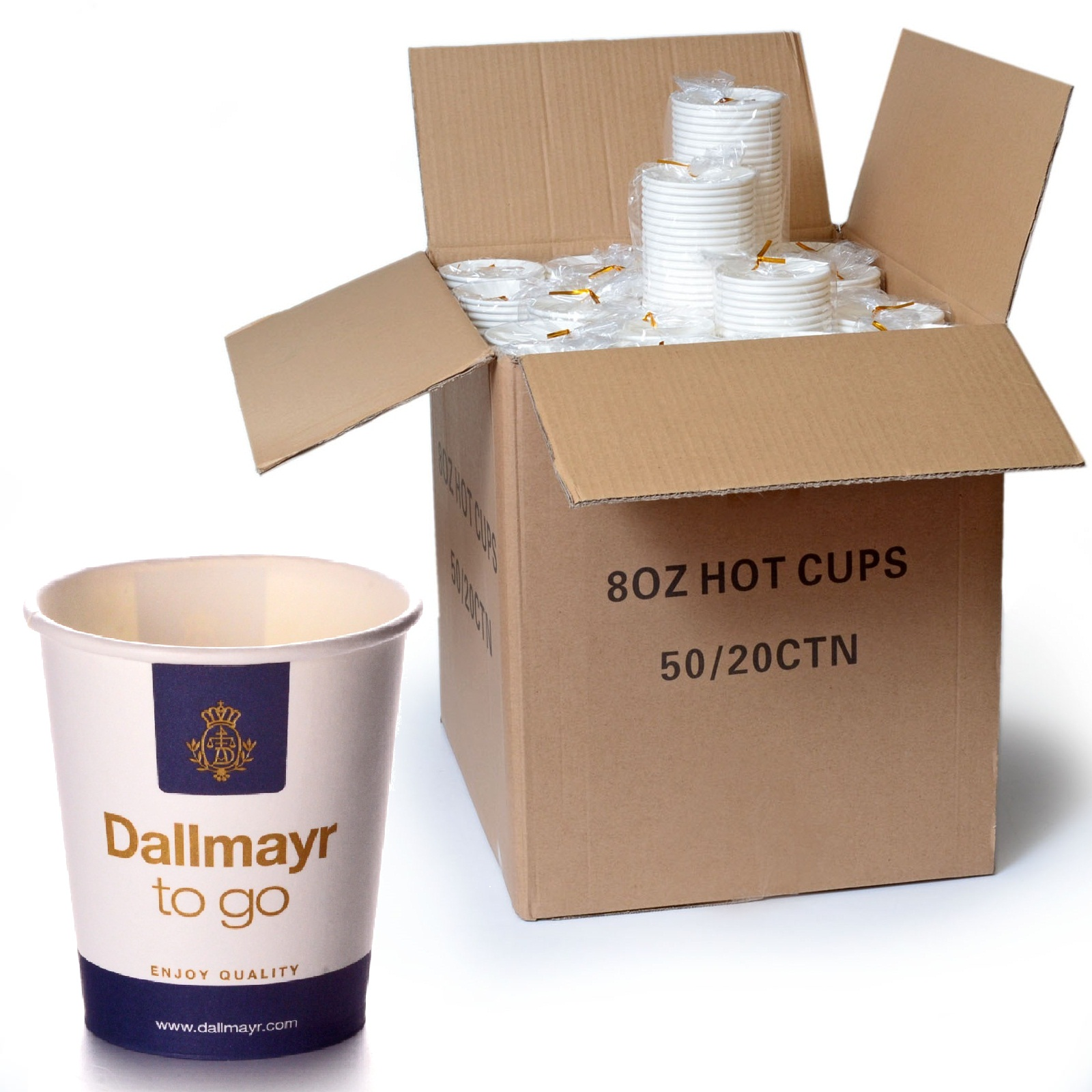 Dallmayr Coffee to go Becher 0,2l Pappbecher 1000 Stk.