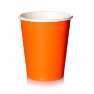 Coffee to go Becher 0,2l Orange 24cl Pappbecher 50 Stk.
