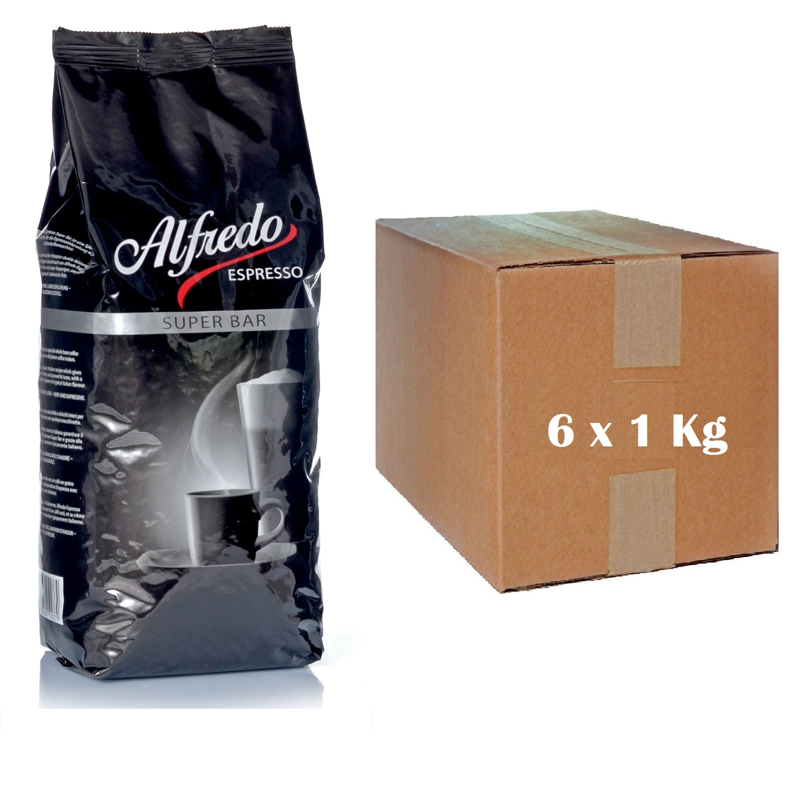 Alfredo Espresso Super Bar 6 x 1kg Espressobohnen