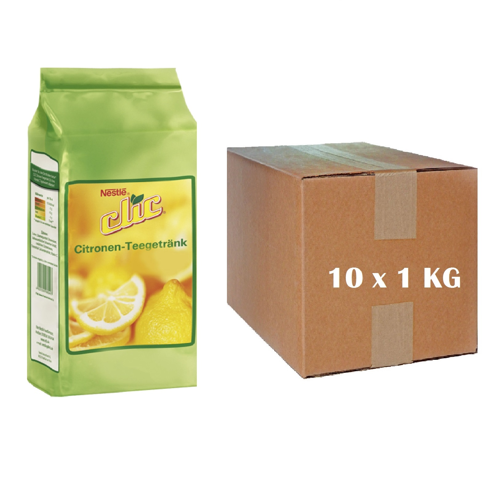 Nestlé Clic Citrone - Karton 10 x 1Kg Zitronen Tee Instant