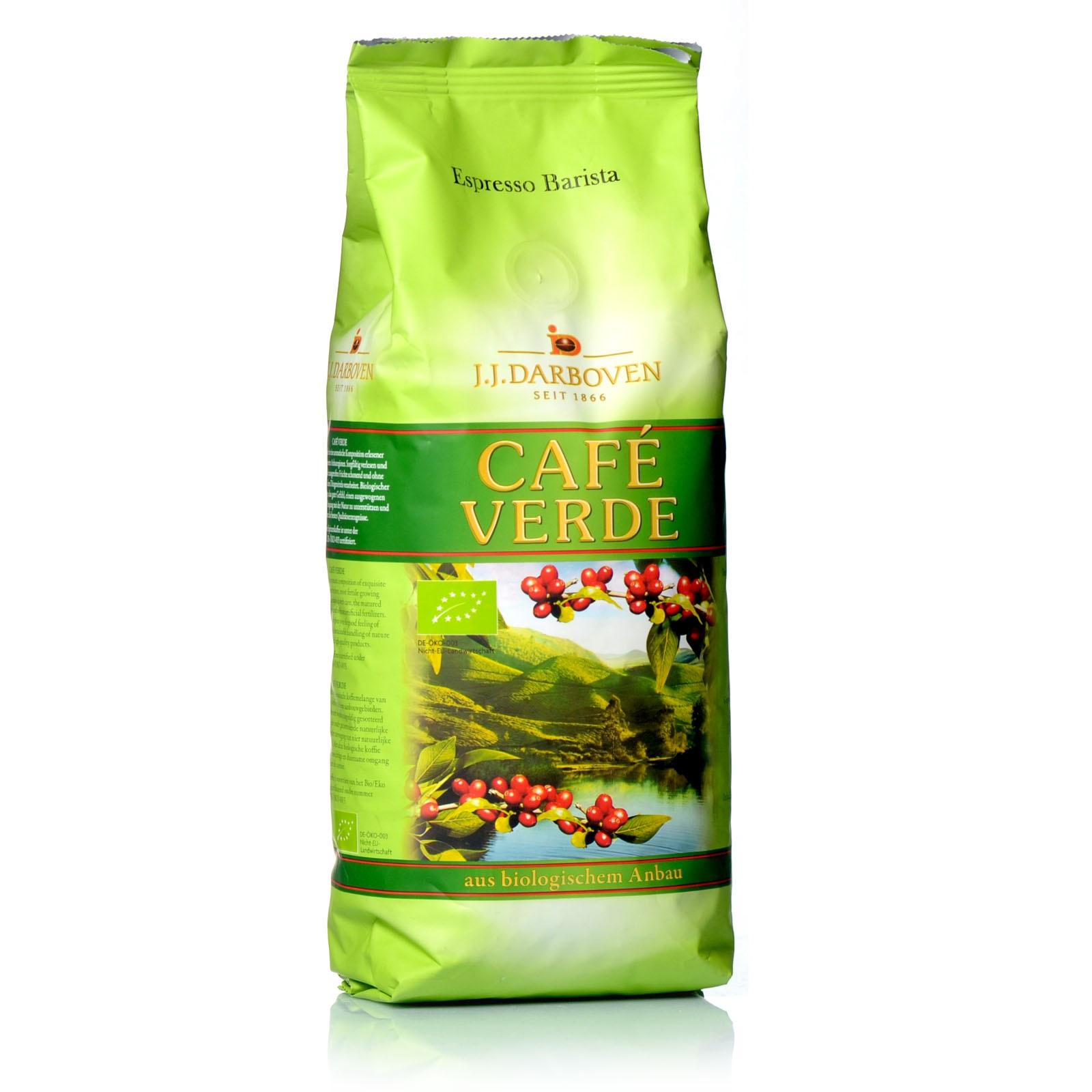Darboven Café Verde Espresso Bio Barista 500 g ganze Bohnen