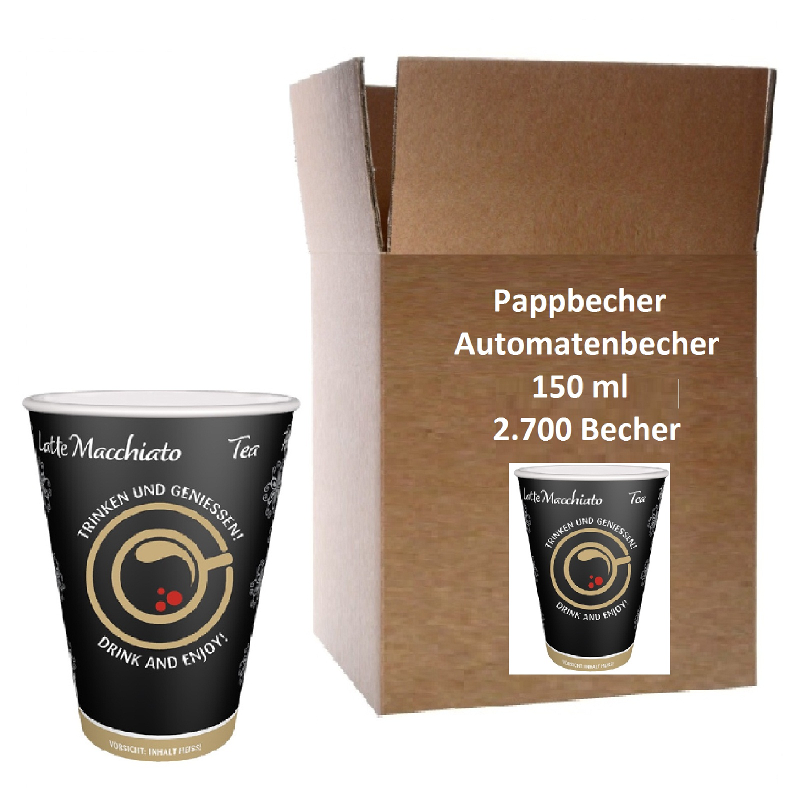 Automatenbecher Papierbecher 0,15l Intercups 60 Stk.