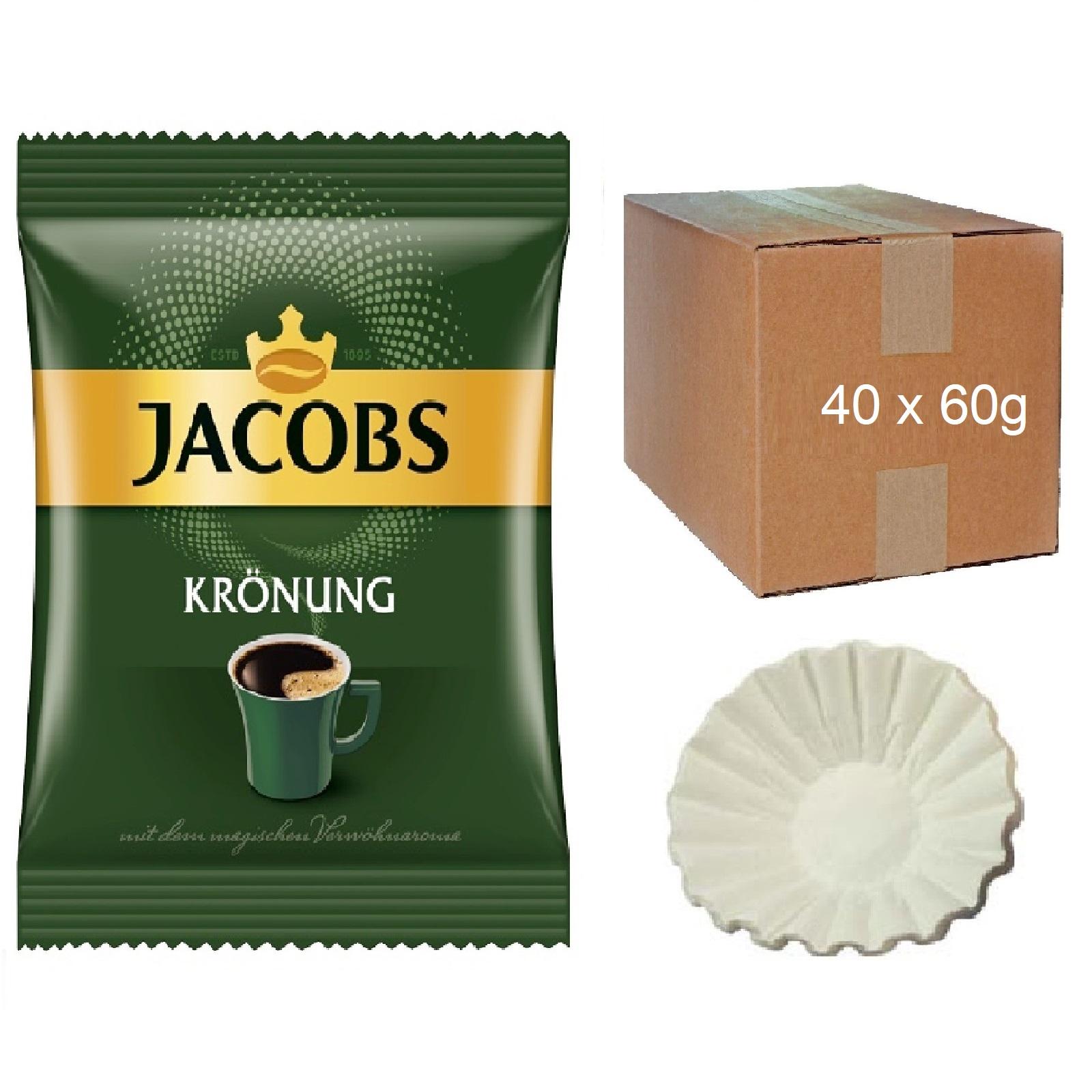 Jacobs Krönung Klassisch 40 x 60g (ehemals Balance) Kaffee Servicepaket inkl. 50 Korbfilter