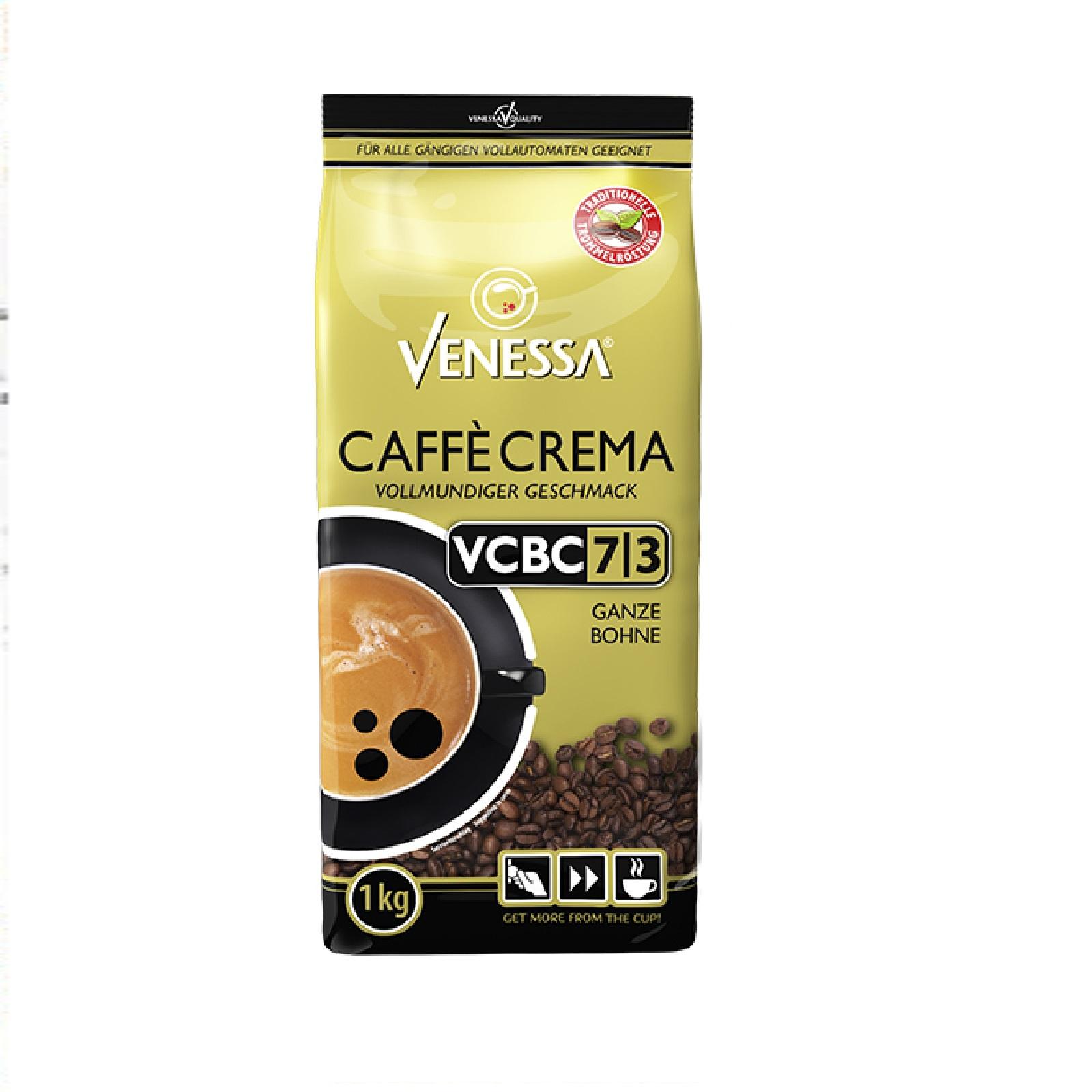 Venessa Caffè Crema 1kg VCBC 7/3 ganze Bohne