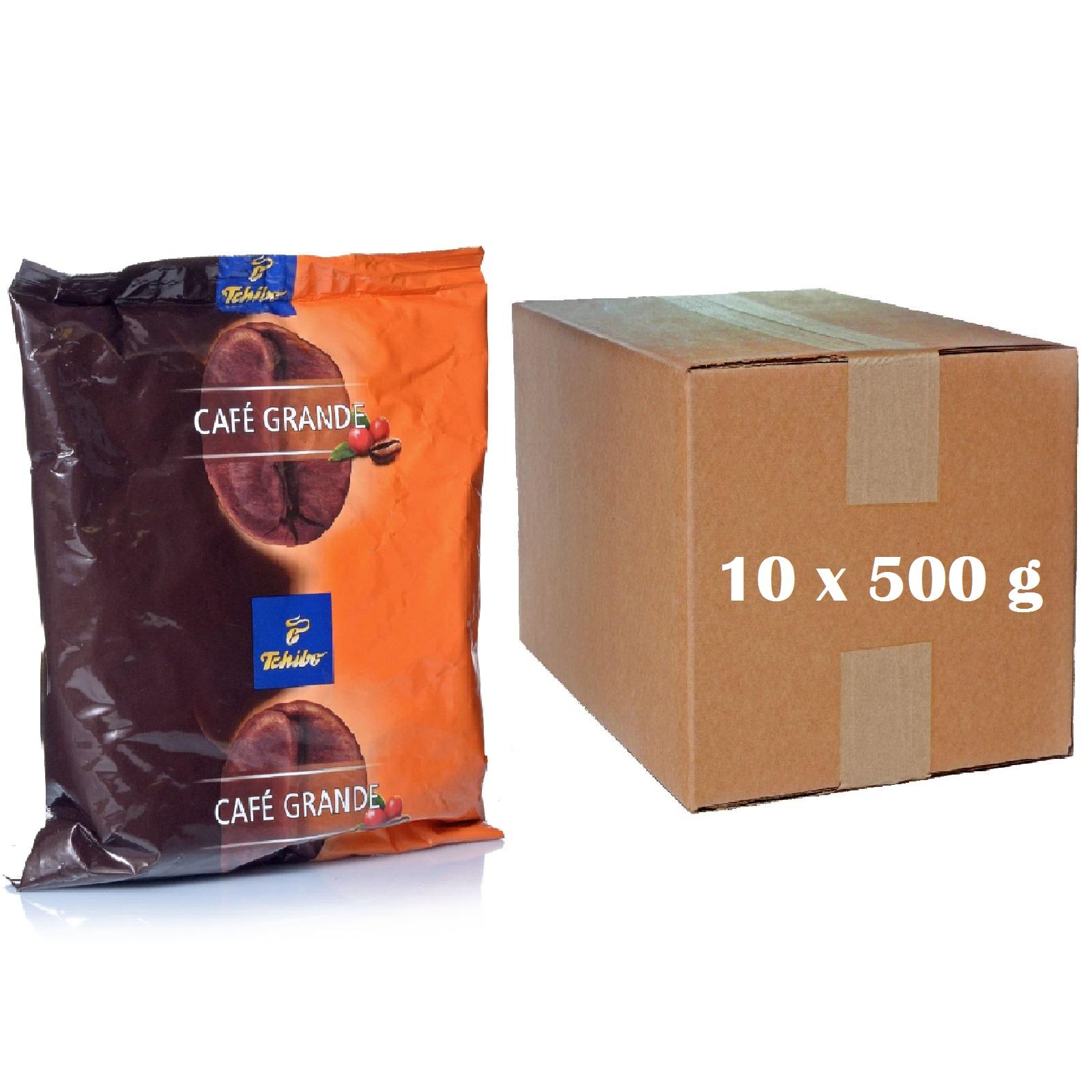 Tchibo Cafe Grande 10 x 500g Kaffee ganze Bohnen
