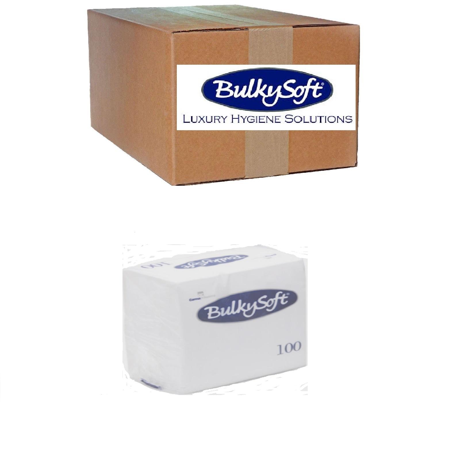 BulkySoft Servietten 1/4 Falz, Hochweiß 2-lg, Zell. 24 x 24 cm, 30 x 100 Stk.