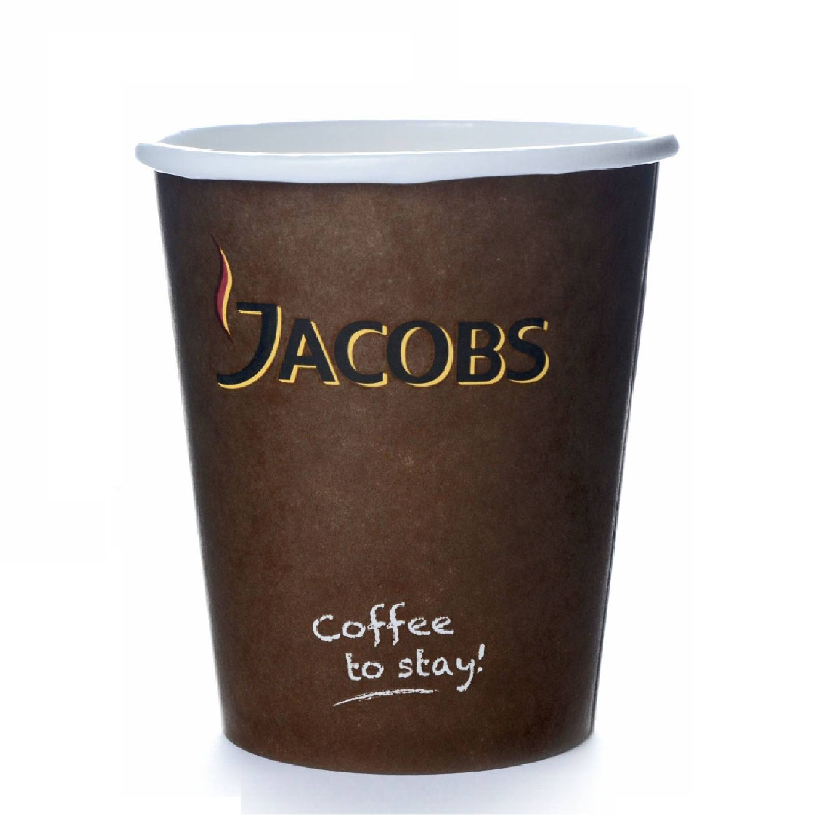 Coffee to go Becher 0,2l Pappbecher 100 Jacobs Kaffeebecher 200 ml