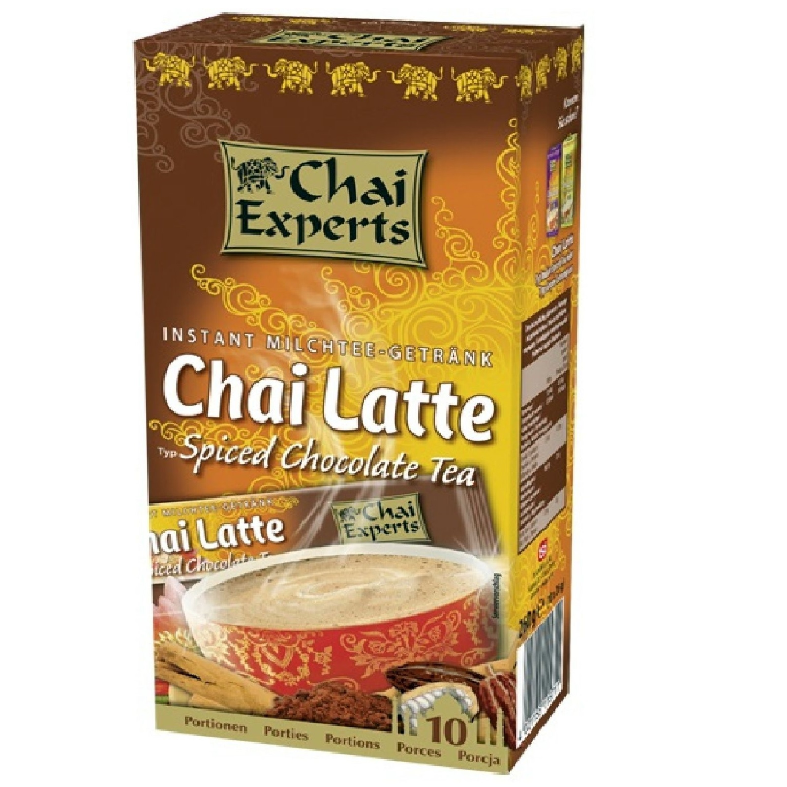 Chai Experts Chocolate Spiced Tea Instant Milchtee 10 Sticks á 26g