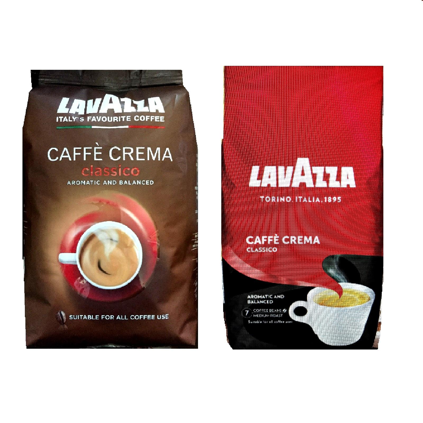 Lavazza Caffé Crema Classico ganze Kaffee-Bohnen 1Kg jetzt mit 10% mehr im Beutel