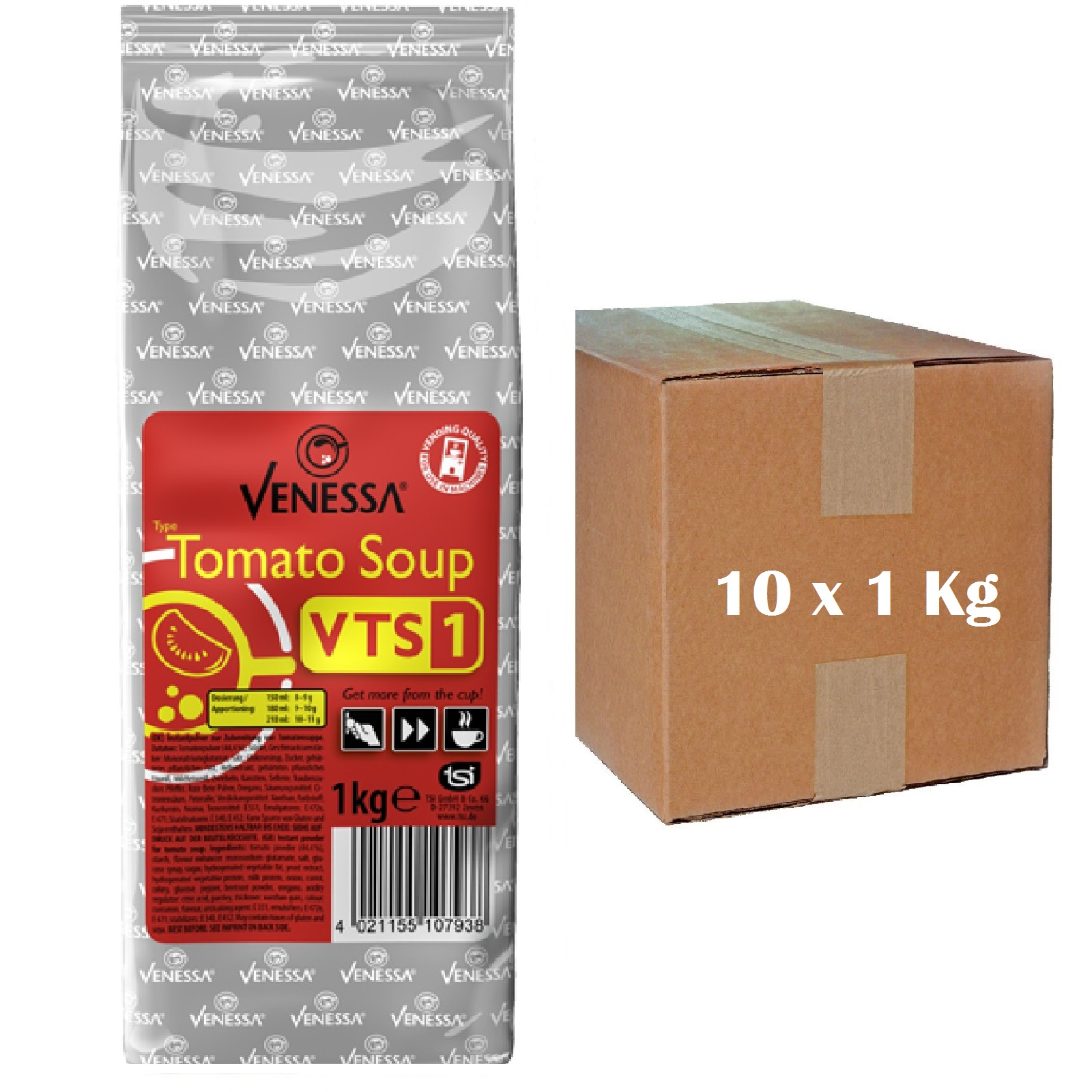 Venessa Tomato Soup VTS1 Instantsuppe 10 x 1kg für Automaten