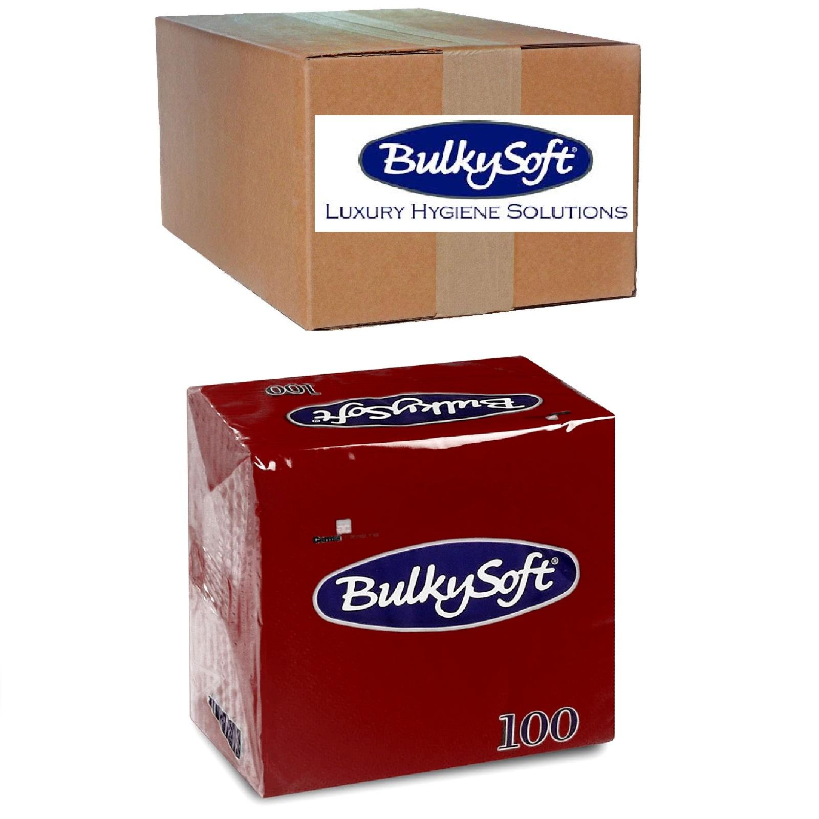 BulkySoft Servietten 1/4 Falz, bordeaux 2-lg, Zell. 24 x 24 cm, 30 x 100 Stk.
