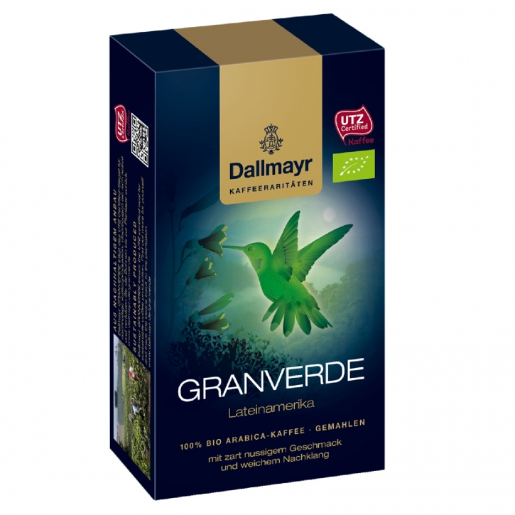 Dallmayr Granverde Bio Kaffeerarität 12 x 250g Röstkaffee gemahlen