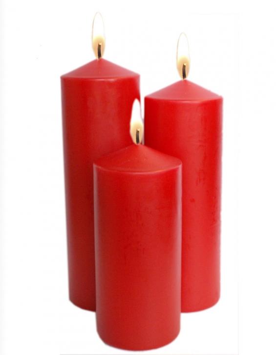 Kerze Laterne Rot 3er Stumpenkerzen Laternen