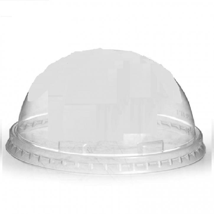 Domdeckel ohne Loch glasklar für Trinkbecher PET Ø 95mm, 1000 Stk